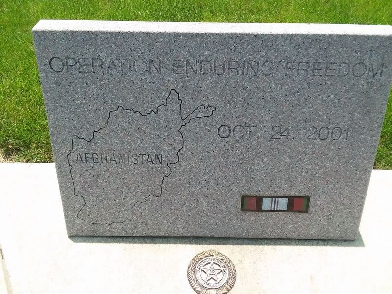 Delphos Operation Enduring Freedom Memorial image. Click for full size.