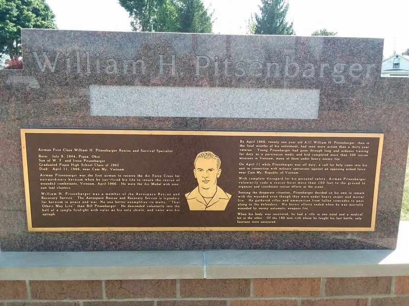 William H. Pitsenbarger Marker image. Click for full size.