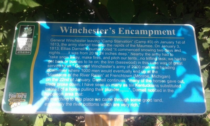 Winchester's Encampment Marker image. Click for full size.
