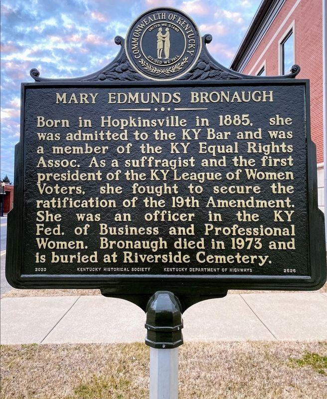 Mary Edmunds Bronaugh Marker image. Click for full size.