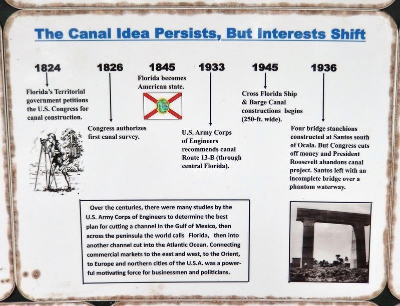 The Canal Story Marker (<i>panel 2</i>) image. Click for full size.