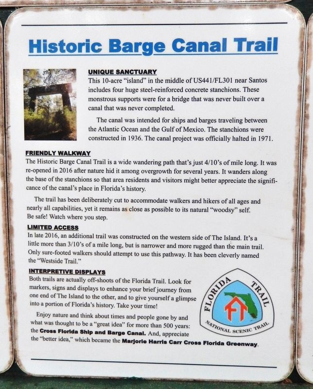 Marker detail: Historic Barge Canal Trail image. Click for full size.