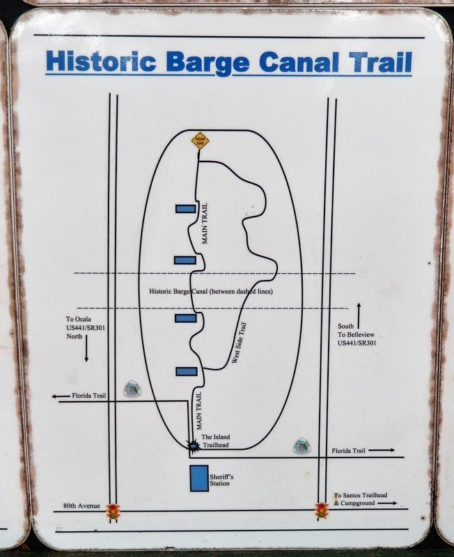 Marker detail: Historic Barge Canal Trail Map image. Click for full size.