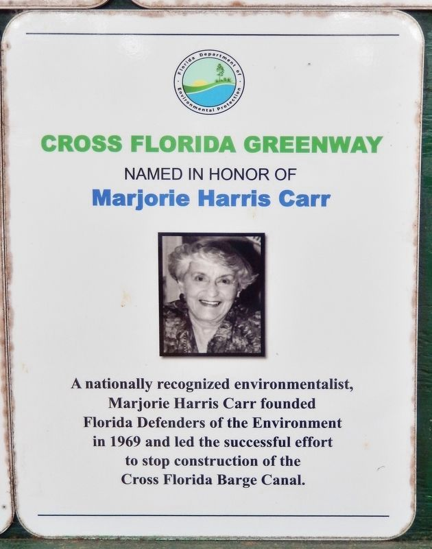Marker detail: Cross Florida Greenway image. Click for full size.