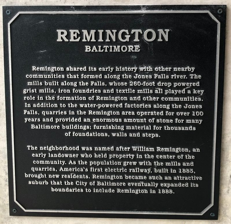 Remington Marker image. Click for full size.