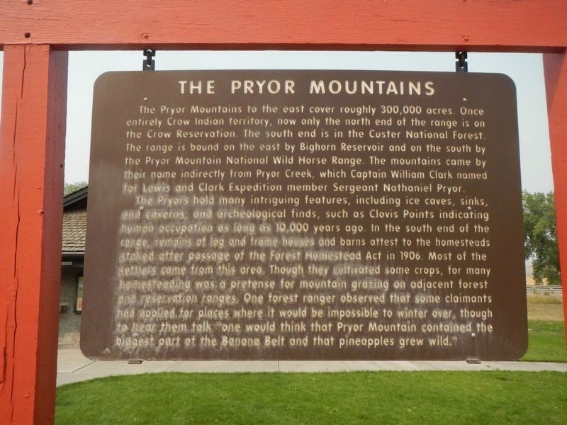 The Pryor Mountains Marker image. Click for full size.