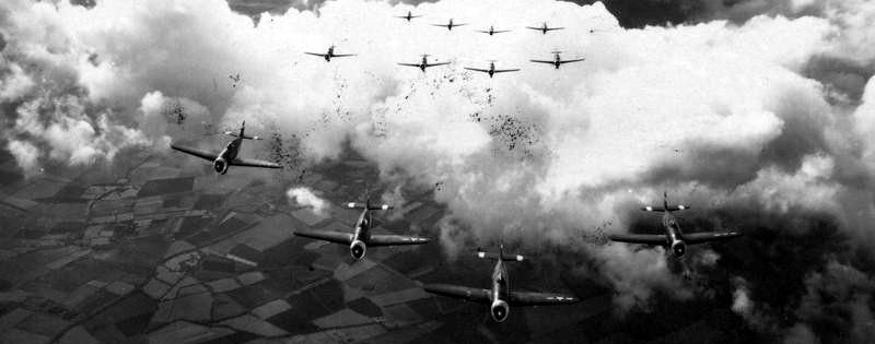 P-47 Thunderbolts of one of the 78th Fighter Group's squadrons image. Click for full size.