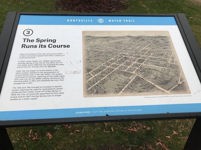 The Spring Runs Its Course Marker image. Click for full size.
