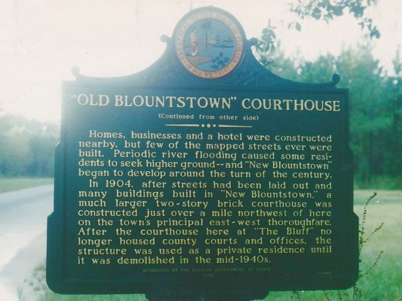 """Old Blountstown"" Courthouse Marker Side 2 image. Click for full size."