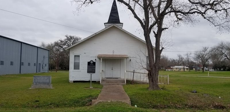 The view of the East Side Church of God Marker from the road image. Click for full size.