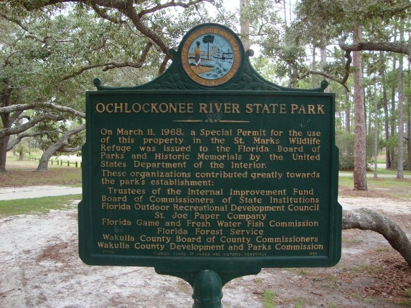 Ochlockonee River State Park Marker Side 1 image. Click for full size.
