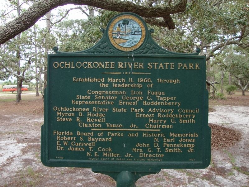 Ochlockonee River State Park Marker Side 2 image. Click for full size.