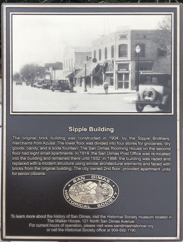 The Sipple Building Marker image. Click for full size.