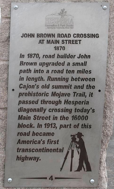 John Brown Road Crossing Marker image. Click for full size.