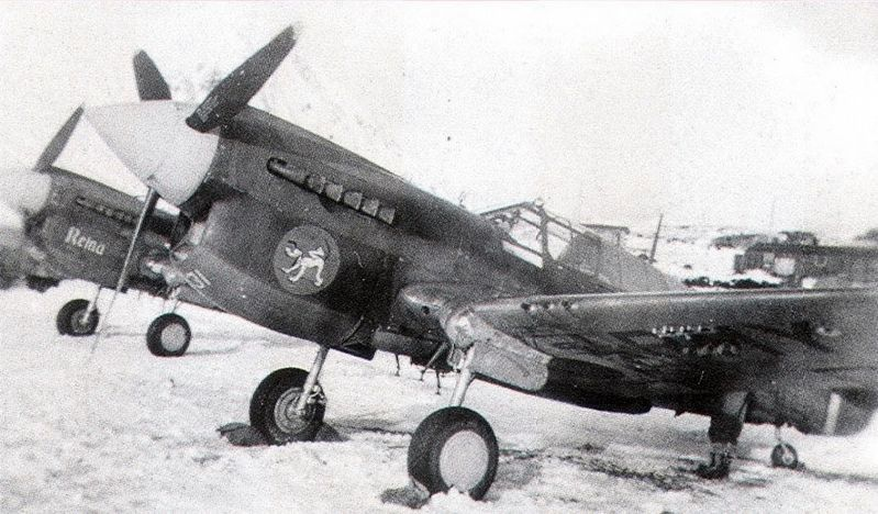 Curtiss P-40K Warhawk, 18th Fighter Squadron of the 343rd Fighter Group image. Click for full size.
