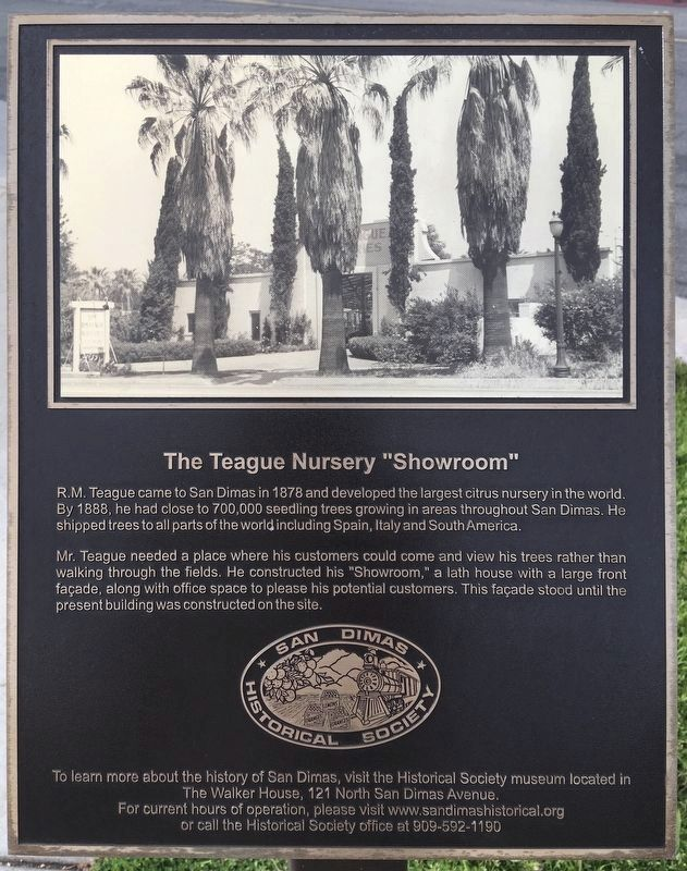 Teague Nursery Showroom Marker image. Click for full size.