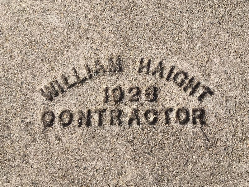 Sidewalk Contractor Stamp - 1928 image. Click for full size.