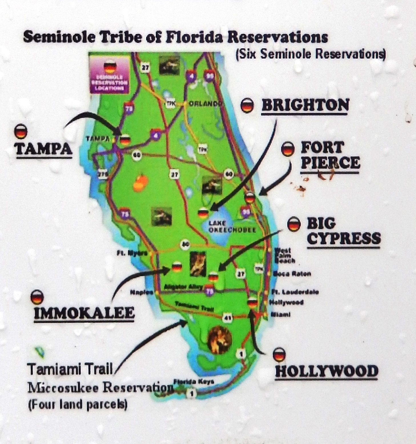 Marker detail: Seminole Tribe of Florida Reservations