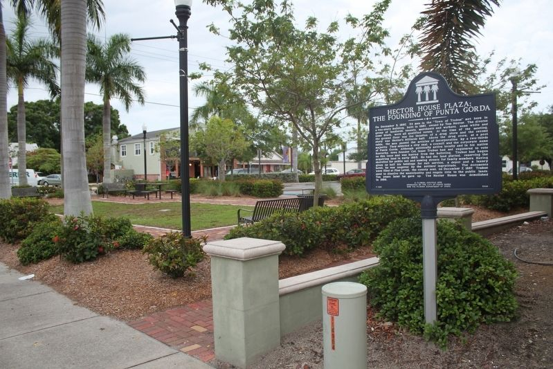 Hector House Plaza: The Founding of Punta Gorda Marker image. Click for full size.