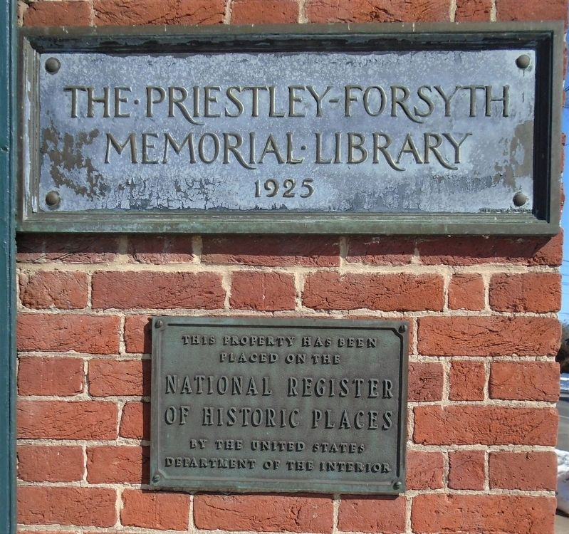 The Priestley-Forsyth Memorial Library NRHP Marker image. Click for full size.