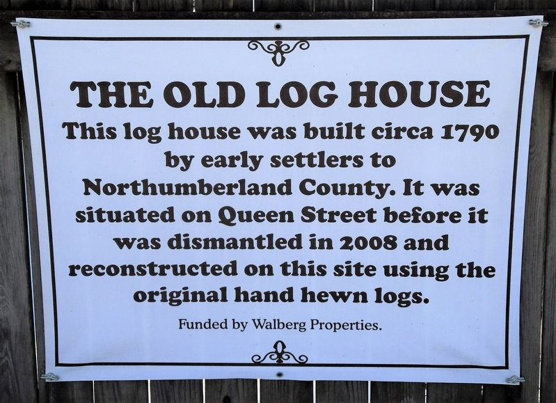 The Old Log House Marker image. Click for full size.