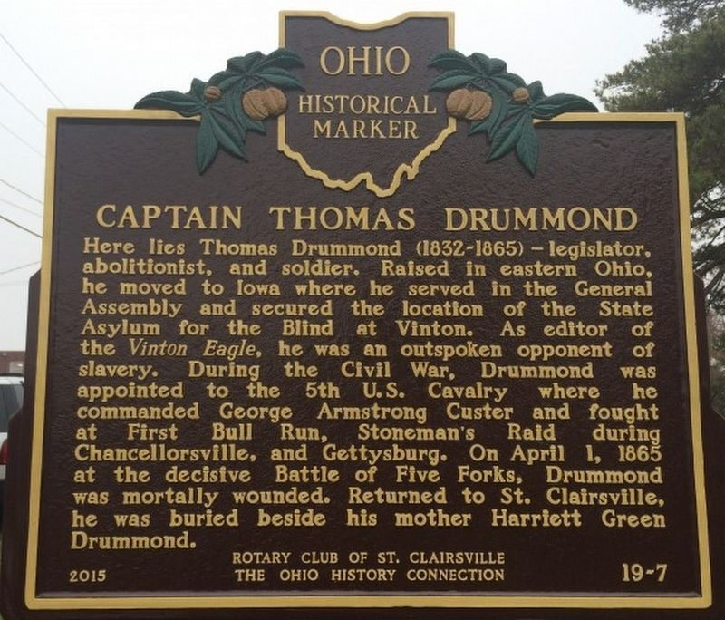 Captain Thomas Drummond Marker image. Click for full size.