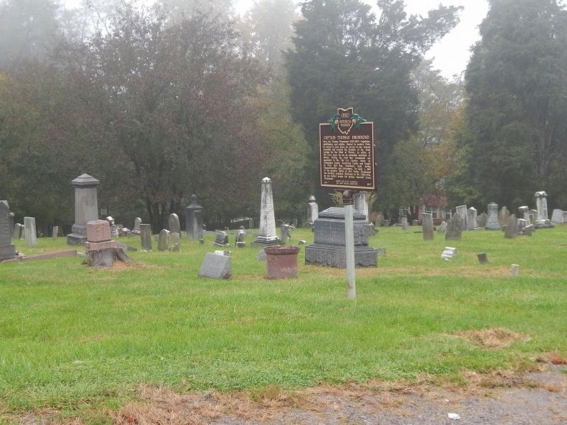 Marker is located in Friends Cemetery image. Click for full size.