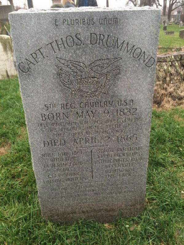 Thomas Drummond Memorial Marker image. Click for full size.
