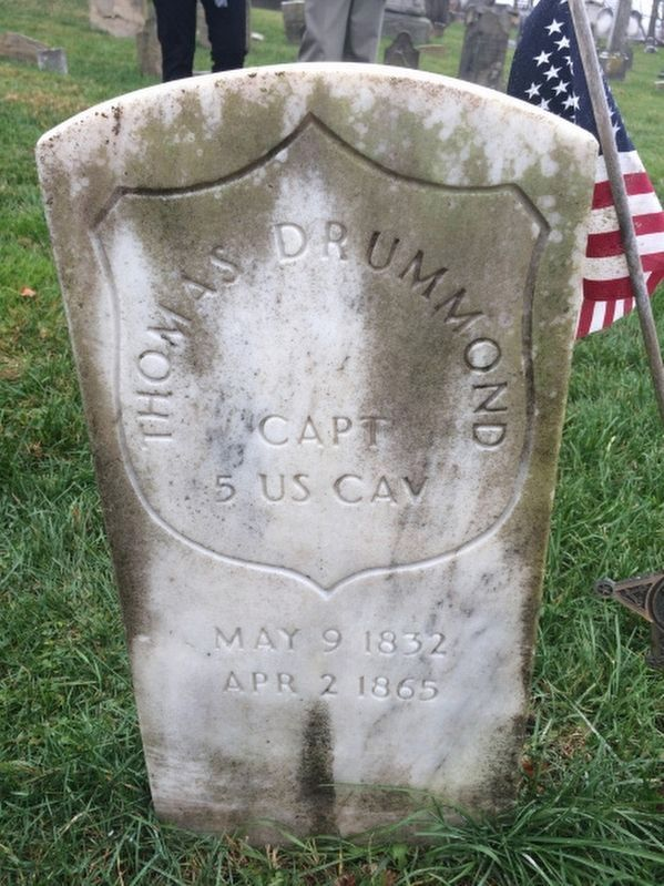 Captain Thomas Drummond grave marker image. Click for full size.