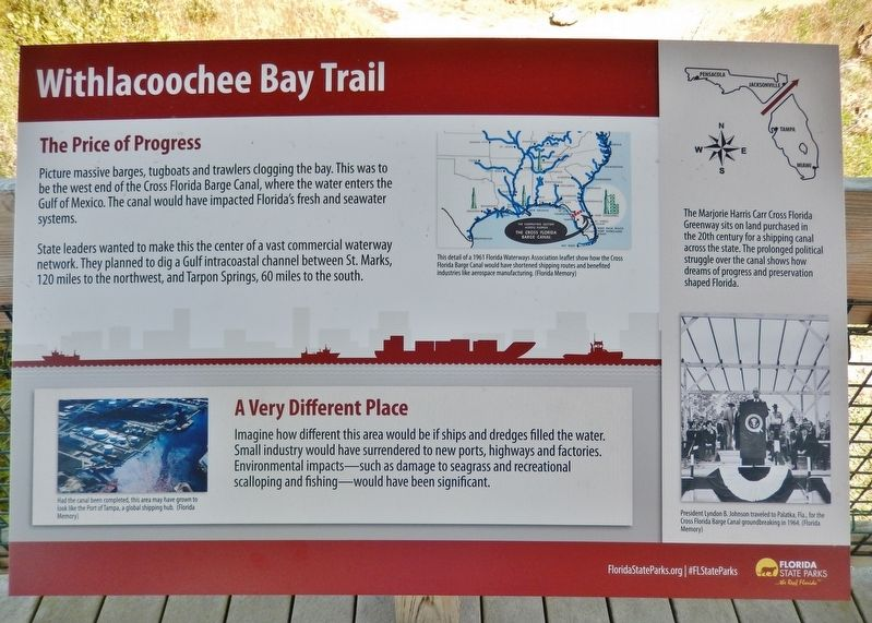 Withlacoochee Bay Trail Marker image. Click for full size.