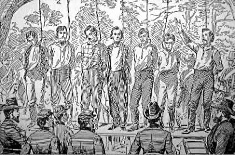 The Hanging of Andrews' Raiders image. Click for full size.
