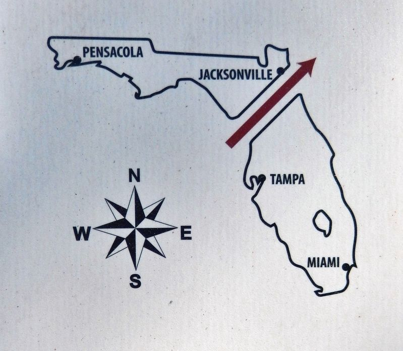 Marker detail: Marjorie Harris Carr Cross Florida Greenway image. Click for full size.