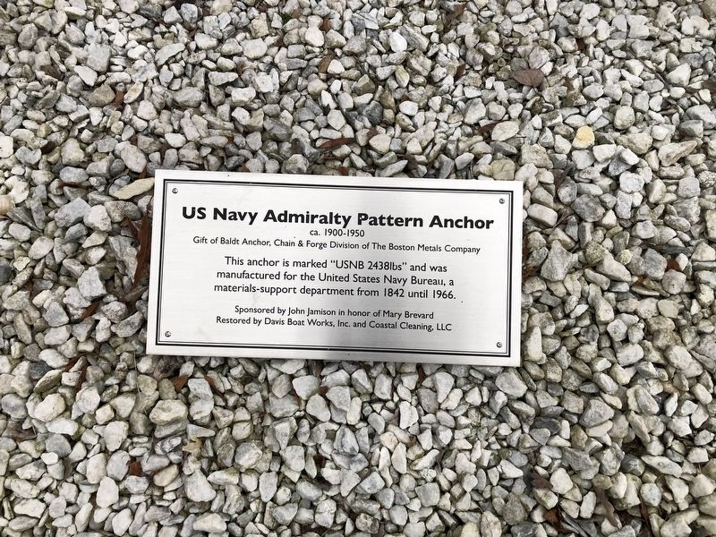 US Navy Admiralty Pattern Anchor Marker image. Click for full size.