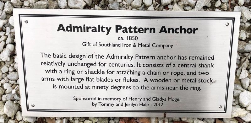 Admiralty Pattern Anchor Marker image. Click for full size.