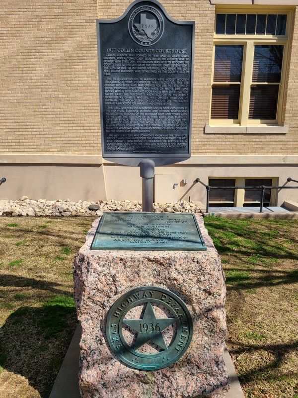 1927 Collin County Courthouse Marker image. Click for full size.
