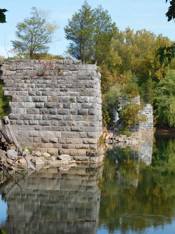 Bridge Piers in the Potomac River at Shepherdstown image. Click for full size.