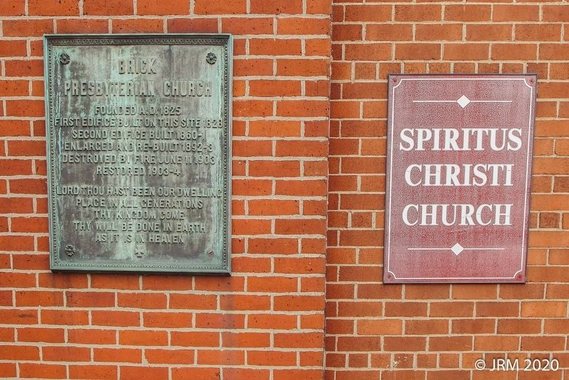 Brick Presbyterian Church Marker image. Click for full size.