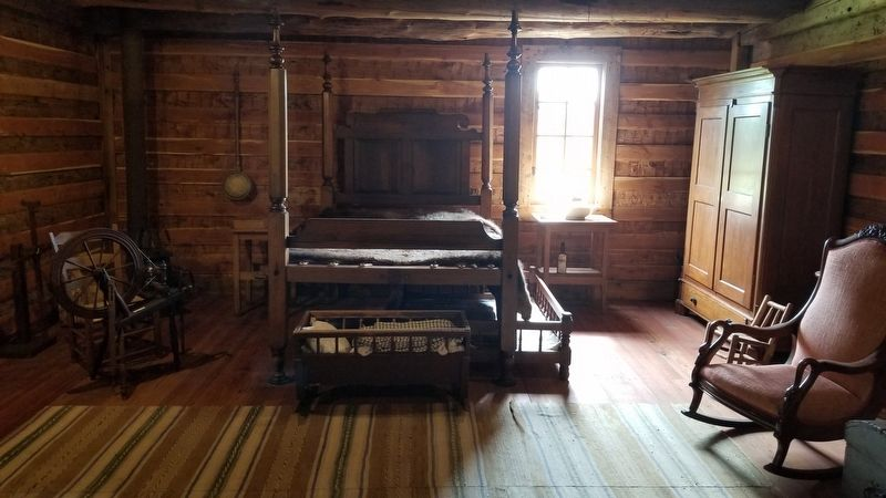 The bedroom of the Turner-Peters Log Cabin image. Click for full size.