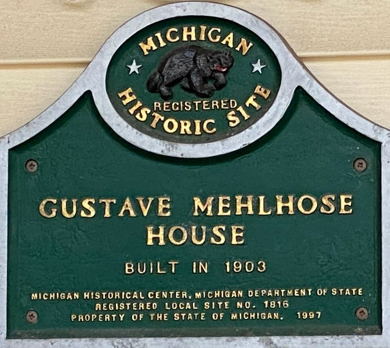 Gustave Mehlhose House Marker image. Click for full size.