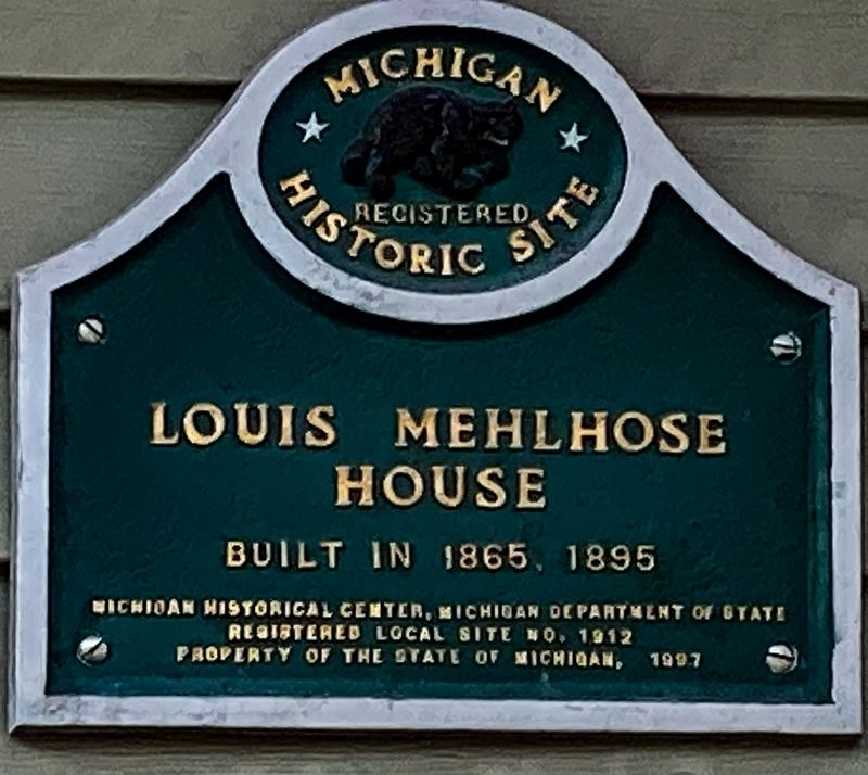 Louis Mehlhose House Marker image. Click for full size.