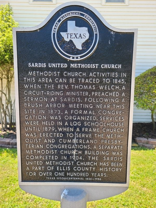 Sardis United Methodist Church Marker image. Click for full size.