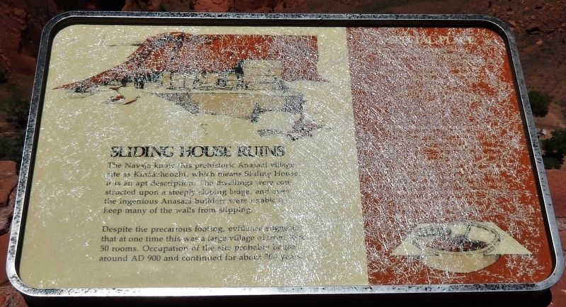 Sliding House Ruins Marker image. Click for full size.
