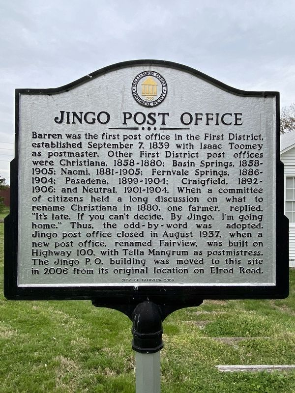 Jingo Post Office/Triangle School Marker image. Click for full size.