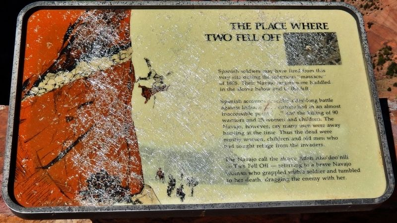 The Place Where Two Fell Off Marker image. Click for full size.