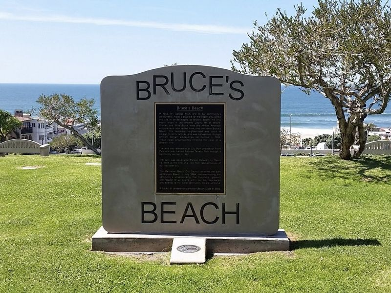Bruce's Beach Marker image. Click for full size.