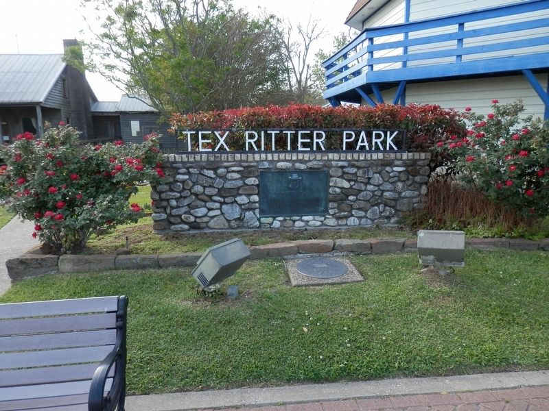 "W.M.""Tex"" Ritter Marker image. Click for full size."