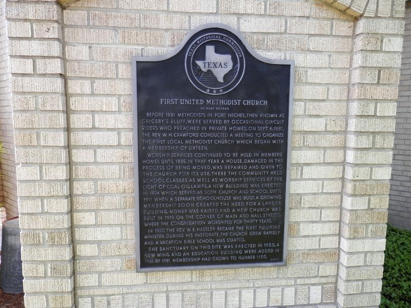 First United Methodist Church <small>Of Port Neches</small> Marker image. Click for full size.