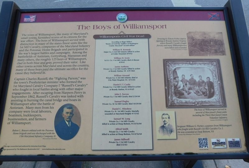 The Boys of Williamsport Marker image. Click for full size.