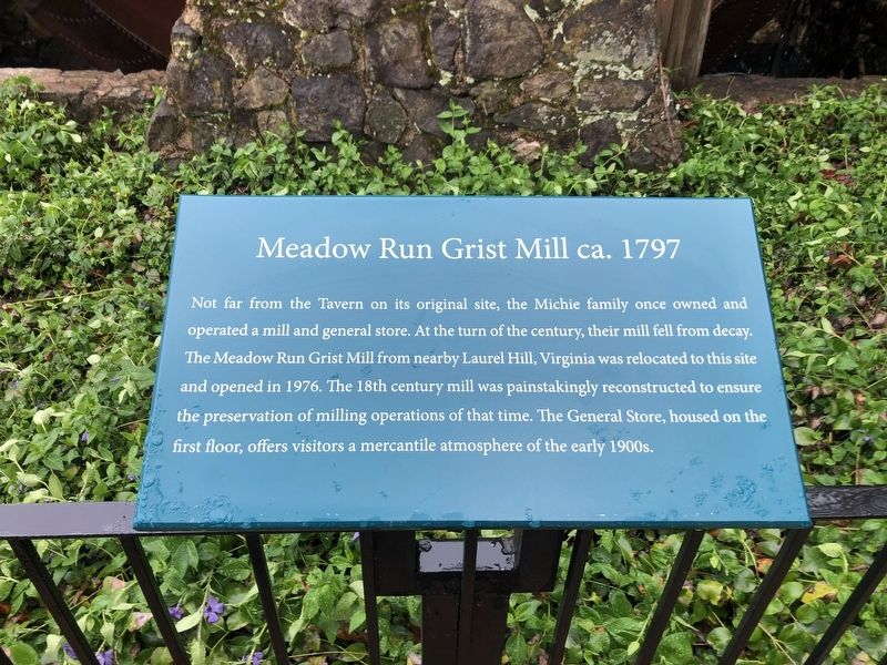 Meadow Run Grist Mill ca. 1797 Marker image. Click for full size.