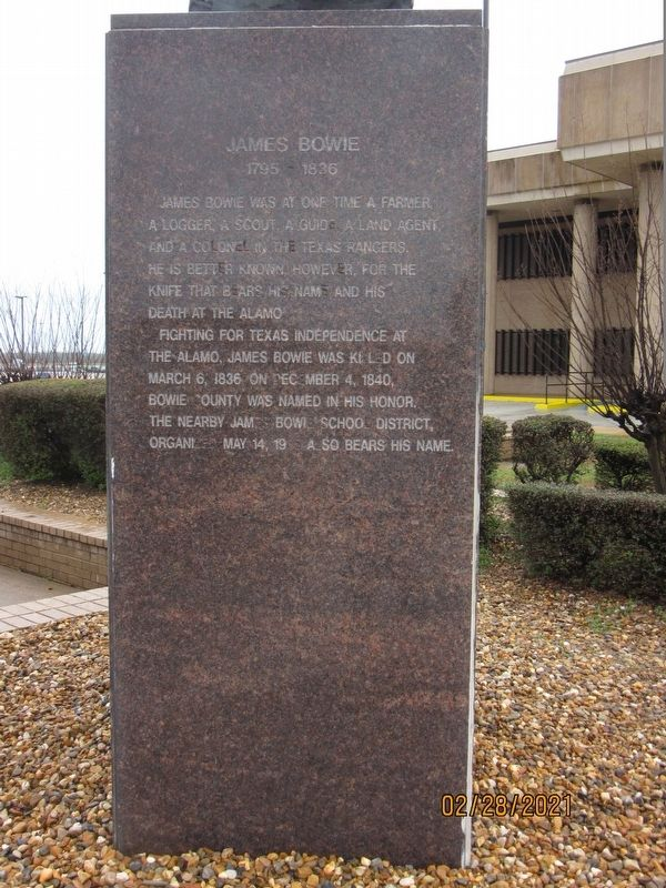 James Bowie Marker image. Click for full size.